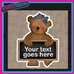 PERSONALISED JUTE SHOPPING BAG BEAR DESIGN GIFT 008